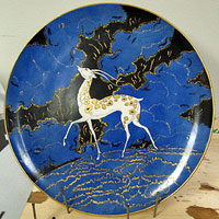 Spooky Deer Plate